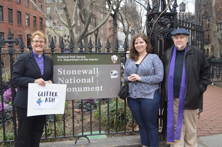 The glitter ashes were distributed at Stonewall National Monument and at least 150 other sites, according to Parity.