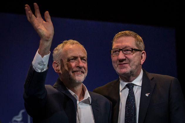 Jeremy Corbyn and Unite general secretary Len McCluskey in