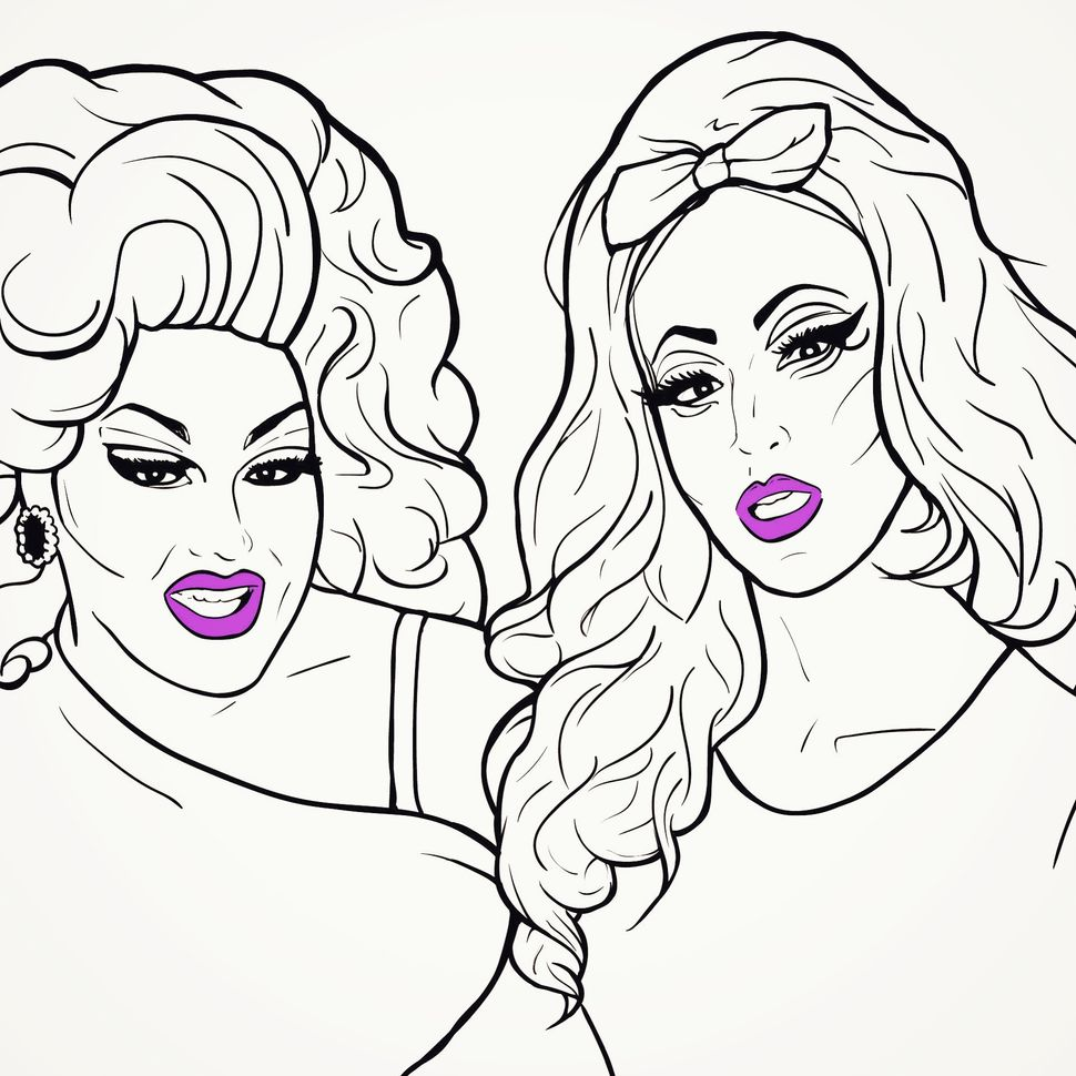 make 100 drag queens of the south a coloring book