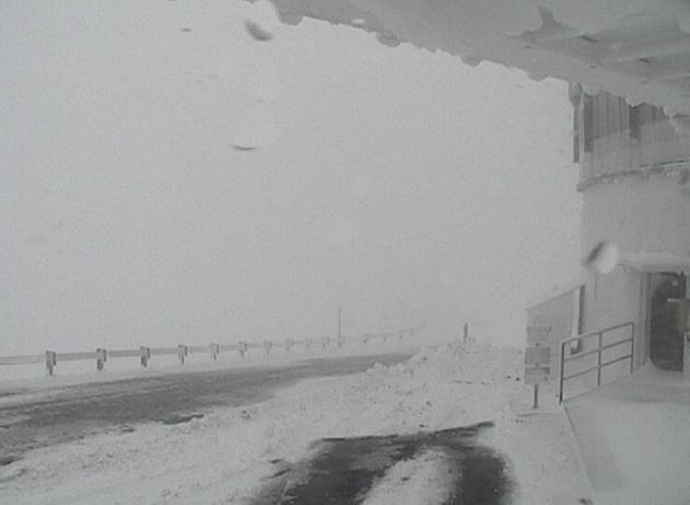 A still taken from from Hawaii's Mauna Kea Weather Centers' UKIRT web camera on Wednesday at 12:05