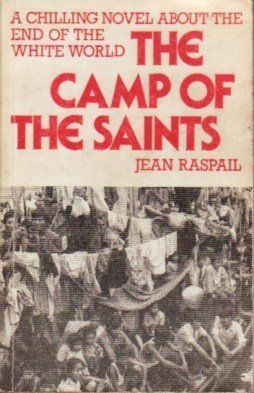 The cover of this English translation of The Camp of the Saints calls it