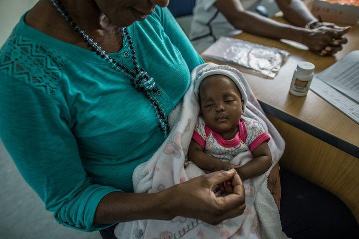 <p>Shanamutango HIV clinic helps HIV-positive mothers like Katrina Kambunde, 42, prevent transmitting the virus to their babies. </p>