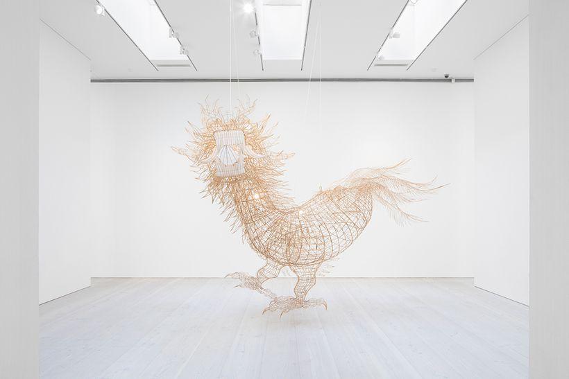 Ai Weiwei, <em>Niao shen long shou shen</em>, 2015, bamboo and silk, 450 x 280 x 200 cm / 177.17h x 110.24w x 78.74d in. Cour