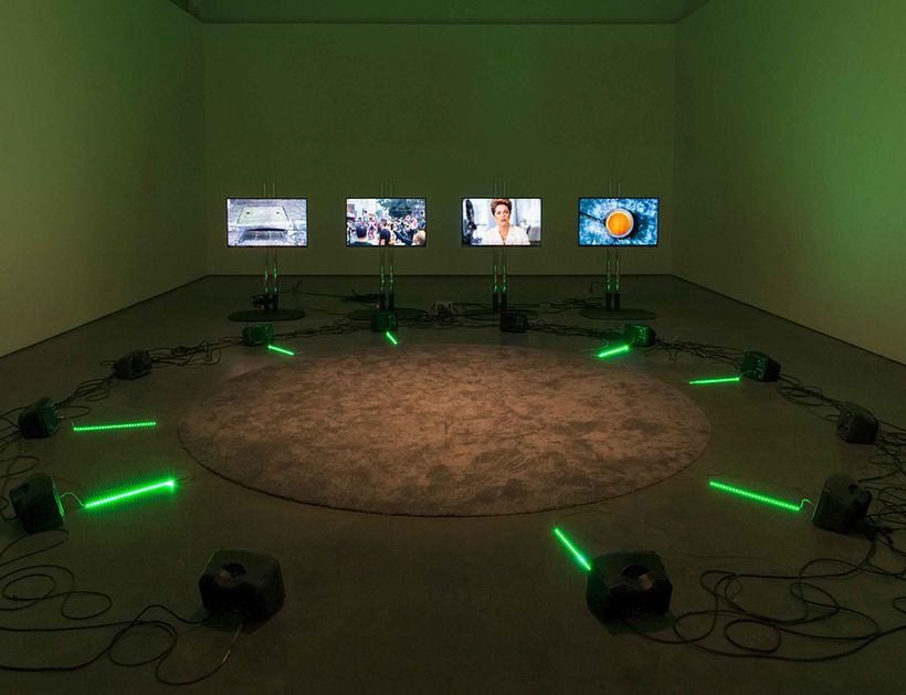 Haroon Mirza, <em>ããã</em> (2016), Installation view, at Contemporary Art Gallery, Vancouver, Canada.