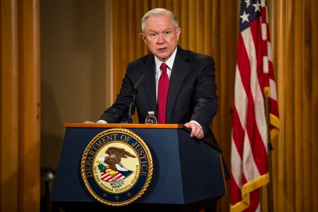 Sessions delivers remarks at the Justice Department's 2017 African American History Month