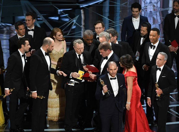 The Best Picture award was mistakenly handed to 'La La Land'
