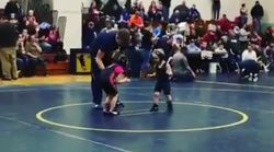 Four-Year-Old's Reaction When The Whistle Blows At His First Ever Wrestling Match Is Hilarious