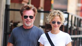 NEW YORK, NY - JUNE 24:  Meg Ryan and John Cougar Mellencamp as seen on June 24, 2013 in New York City.  (Photo by NCP/Star Max/FilmMagic)