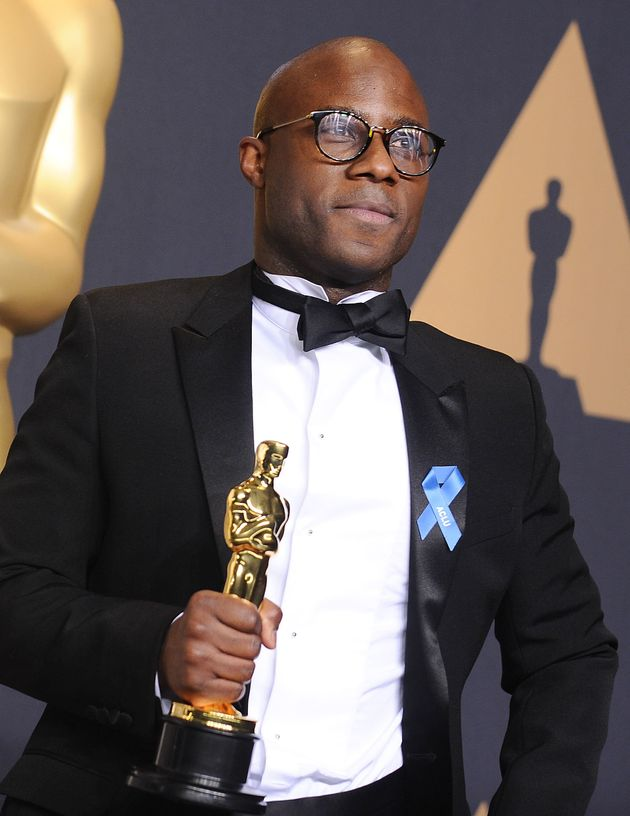 Barry Jenkins with his Academy