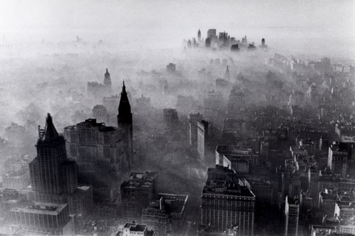 View to the south from the Empire State Building on Nov. 24, 1966, one of New York's worst smog days.
