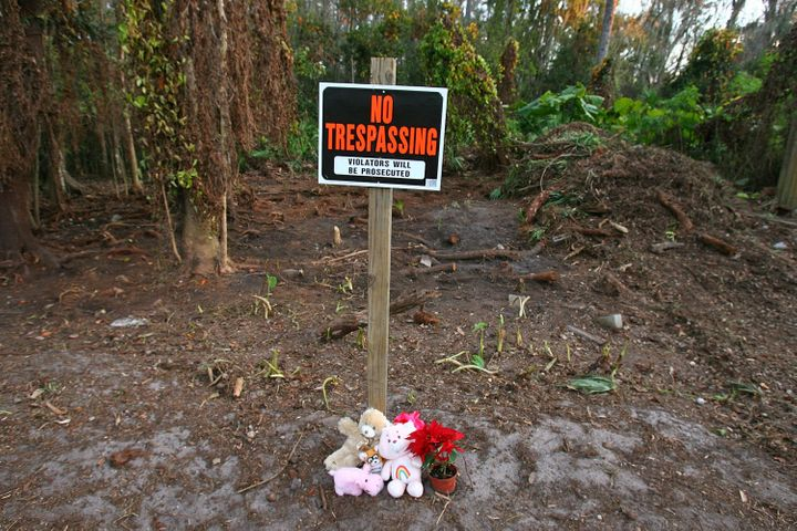 The toddler's body was found buried in this area in 2008.