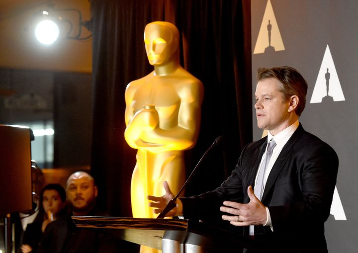 Matt Damon at the Oscars.