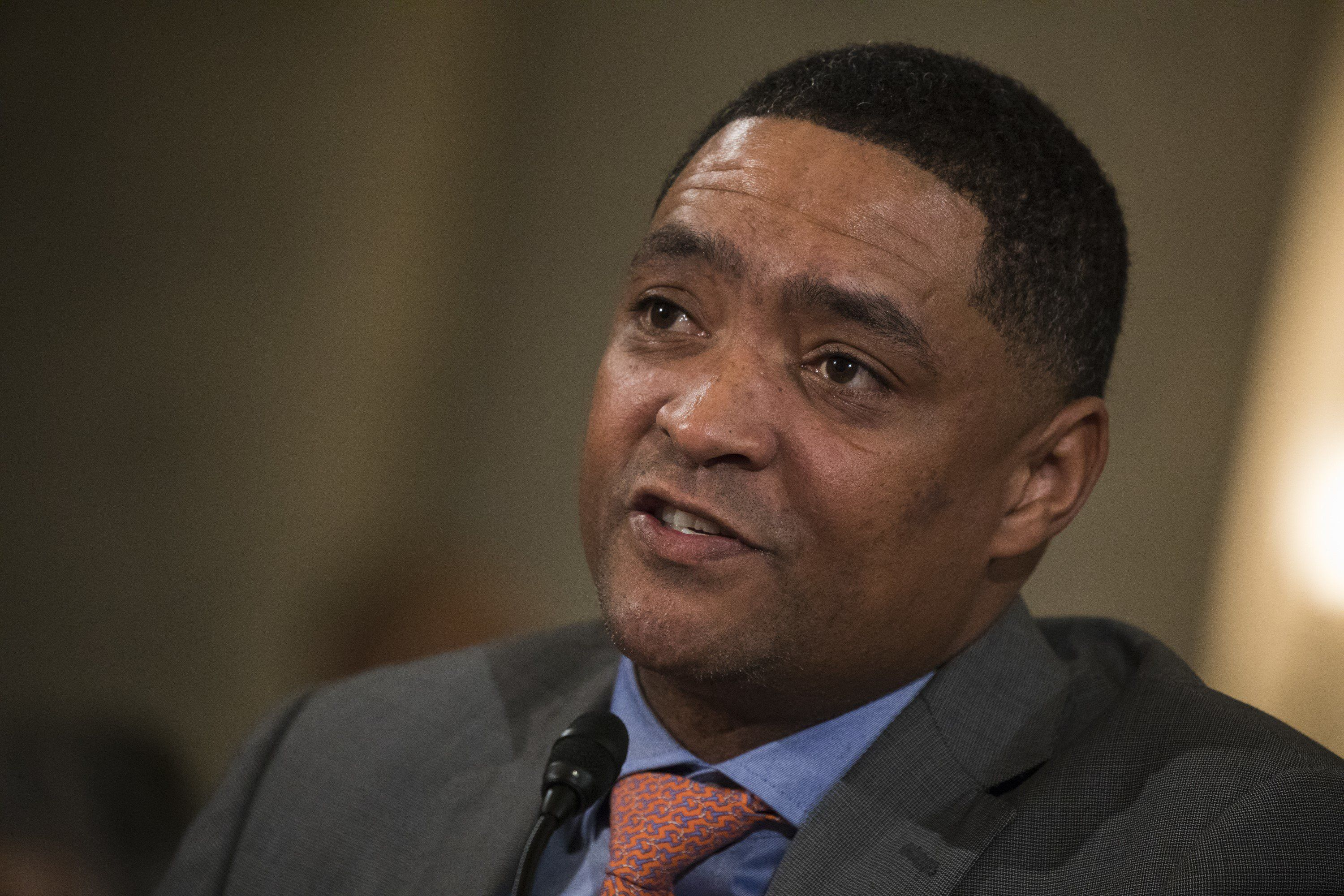 WASHINGTON, USA - January 11: Representative Cedric Richmond testifies against President-elect Trumps nomination of Senator Jeff Sessions to be Attorney General during the Senate Judiciary Committee confirmation hearing at the U.S. Capitol in Washington, USA on January 11, 2017. (Photo by Samuel Corum/Anadolu Agency/Getty Images)