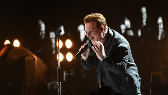 SAN FRANCISCO, CA - OCTOBER 05:  Bono of U2 performs during the 2016 UCSF Benioff Children's Hospital Benefit Concert during the 2016 Salesforce / Dreamforce Conference at the 'Cloud Palace' Cow Palace on October 5, 2016 in Daly City, California.  (Photo by C Flanigan/FilmMagic)