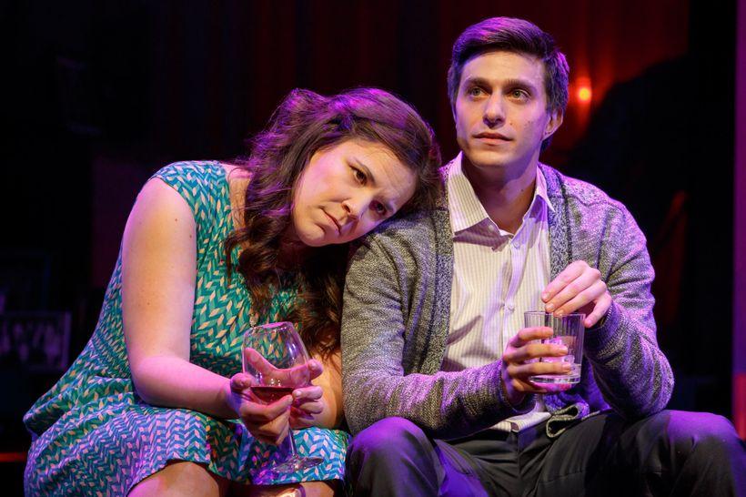Lindsay Mendez and Gideon Glick in <em>Significant Other</em>