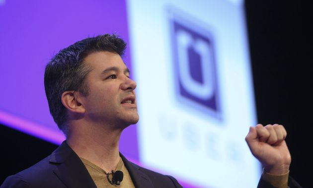 Former Uber CEO Travis Kalanick speaks in London on Oct. 3,