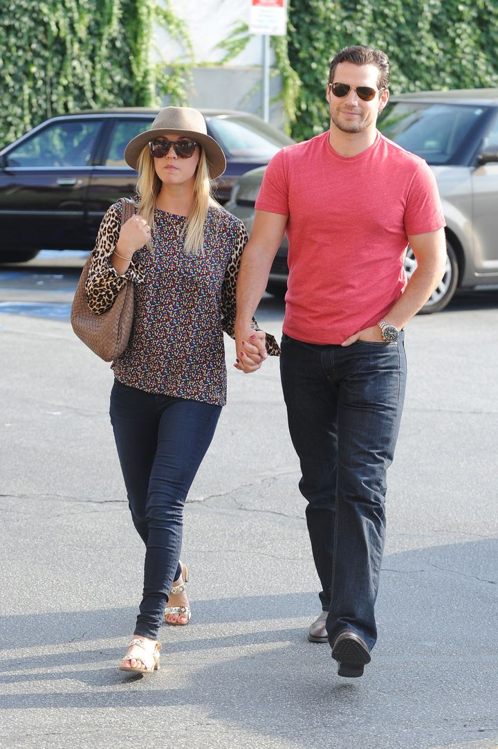 Kaley Cuoco and Henry Cavill go shopping hand-in-hand at Gelsons in Sherman Oaks, CA on July 3, 2013.