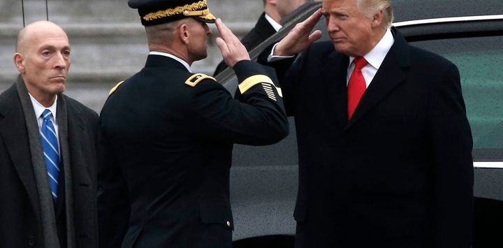 Who's saluting whom?