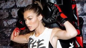 NEW YORK, NY - DECEMBER 07:  Gigi Hadid leads a Self Defense Workout at Reebok And Gigi Hadid Present #PerfectNever Revolution, celebrating the next stage of the brand's #PerfectNever message which inspires women to challenge the notion of perfection as part of its Be More Human campaign on December 7, 2016 at Skylight at Clarkson Square in New York City.  (Photo by Getty Images for Reebok)