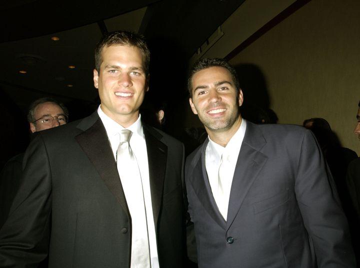 Tom Brady and Kurt Warner at the 2002 ESPY Awards.
