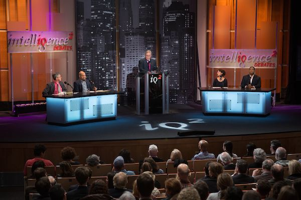 <p>Participants in the debate on the proposition: Charter Schools Are Overrated from left to right: For the proposition Gary Miron, Julian Vasquez Heilig, moderator John Donvan, against the proposition Jeanne Allen and Gerard Robinson. March 1, 2017.</p>