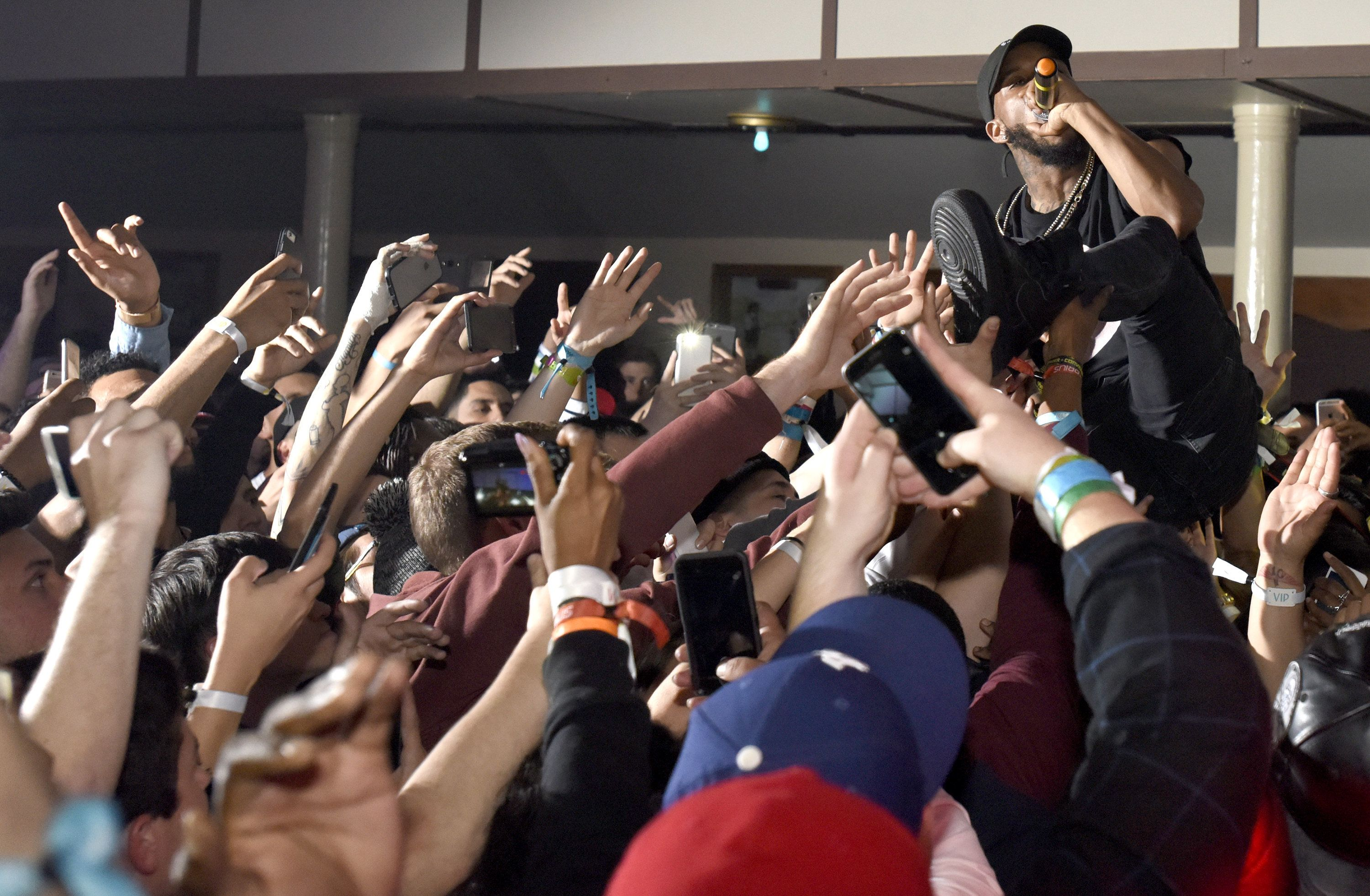AUSTIN, TX - MARCH 19:  Rapper Tory Lanez performs as the final artist at the closing night of The Illmore SXSW 2016 after party at Saengerrunde Hall & Scholz Garden on March 19, 2016 in Austin, Texas.  (Photo by Tim Mosenfelder/Getty Images)