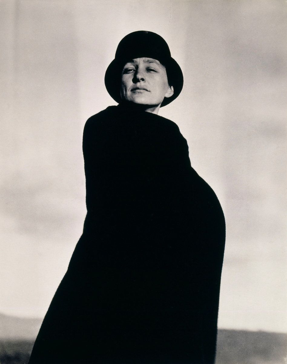 Alfred Stieglitz, photo of Georgia O'Keeffe, circa 1920–22, gelatin silver print, 4½ by 3½ inches (
