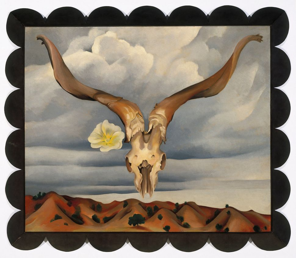 "Georgia O'Keeffe, ""Ram's Head, White Hollyhock—Hills"" (Ram's Head and White Hollyhock, New Mexic"