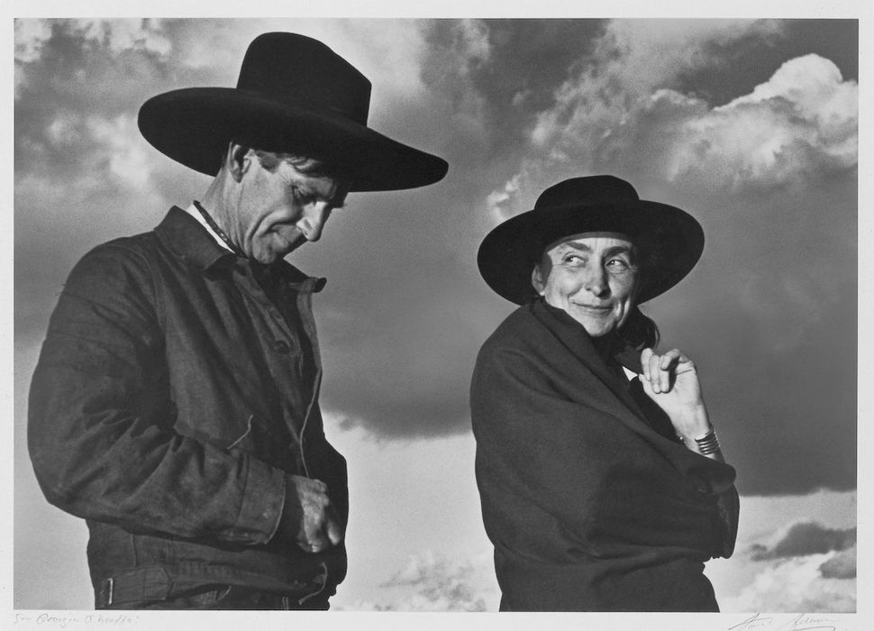 Ansel Adams, portrait of Georgia O'Keeffe and Orville Cox, 1937, gelatin silver print, 7¾ by 11 inches (19.7 by