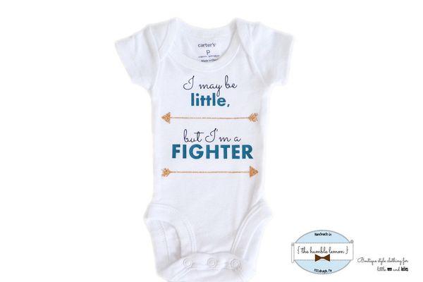 "$12, <a href=""https://www.etsy.com/listing/268816295/preemie-newborn-fighter-bodysuit"" target=""_blank"">TheHumbleLemon</a>"