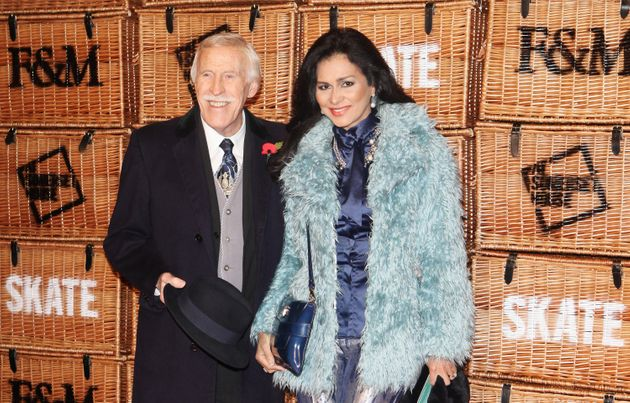 Sir Bruce Forsyth with his wife Lady