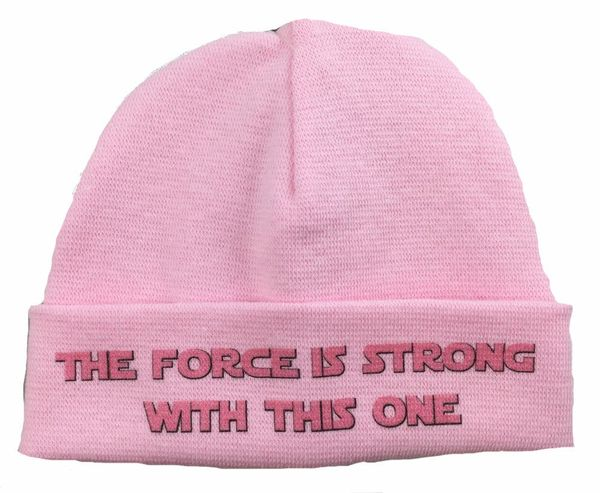 """$9.99, <a href=""""http://www.preemiestore.com/Itty-Bitty-Baby-Force-is-Strong-Pink-Preemie-hat_p_11513.html"""" target=""""_blank"""">Th"""