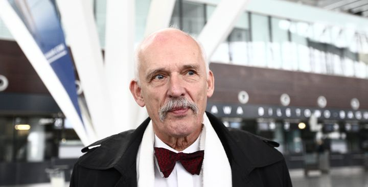 "Janusz Korwin-Mikke said that women don't deserve equal pay because they are ""weaker."""