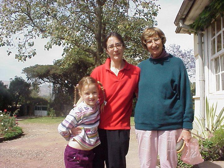Left to right: Laura, Helen and Rita Pankhurst