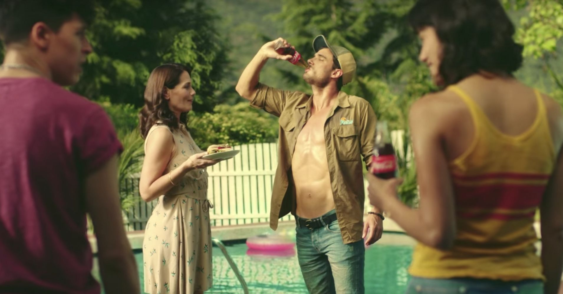 Coke's Sexy New Ad Shows Brother And Sister Competing For The Pool Boy | HuffPost