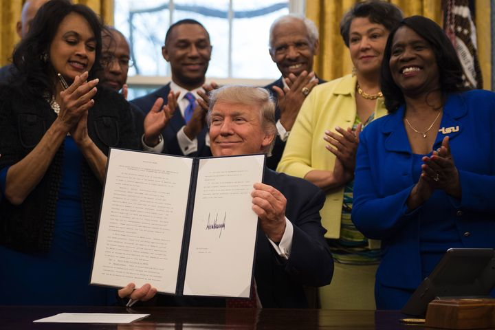 Trump signed an executive order which moved the HBCU initiative from the Department of Education to the White House on T