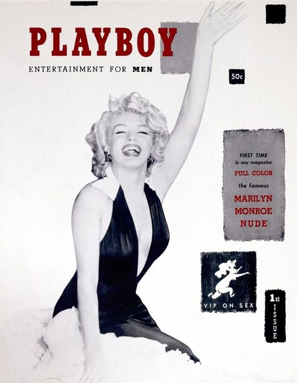 The first issue of Playboy famously featured a full nude spread of the world's most famous pin-up, Marilyn Monroe, at the hei