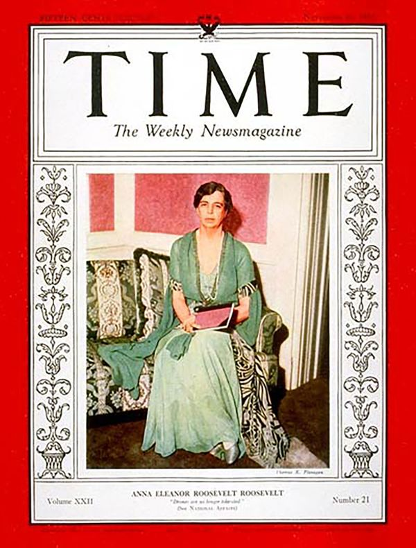 By the time of her November 1934 Time magazine cover, Eleanor Roosevelt had already spent a year in her position as Firs