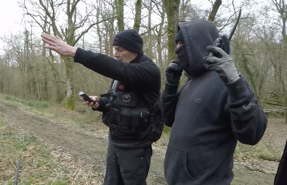 Hunt saboteurs try to track the Crawley and Horsham