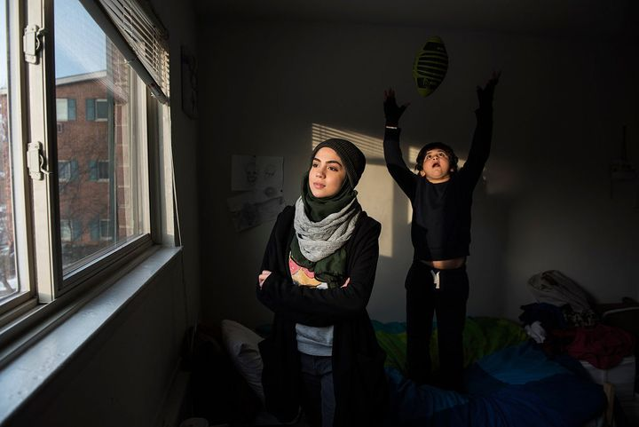 Fatin, 16, and her brother are Syrian refugees whose family fled in 2013, just a few months after their mother's sudden