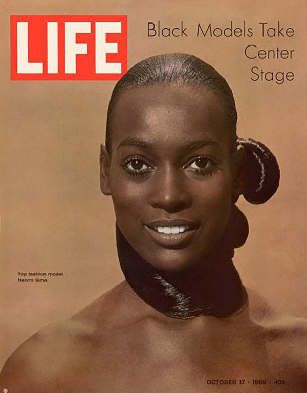 The striking October 1969 cover of Life featured model Naomi Sims, who was the first black woman to have been on Life's cover