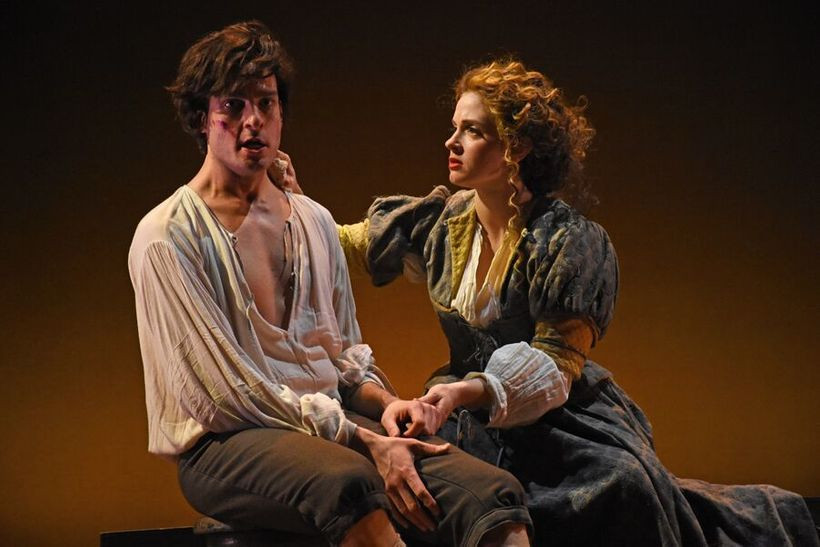 Michael Kelly and Maeve Höglund in LOTNY's 'Prince of Players'