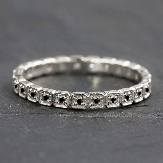 "<i>Buy it <a href=""https://www.etsy.com/listing/270250477/14k-gold-black-diamond-eternity-band?ref=shop_home_active_23"" targe"