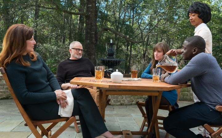 "Catherine Keener, Bradley Whitford, Allison Williams, Betty Gabriel and Daniel Kaluuya star in ""Get Out."""