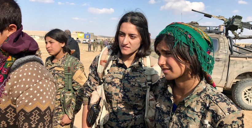 U.S. Central Command shared photos of Kurdish female fighters in northern Syria hours after Turkey's president threatened to