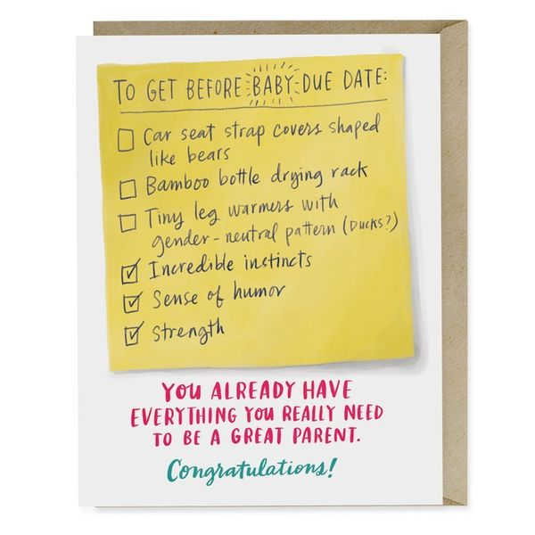 """$4.50, <a href=""""https://emilymcdowell.com/collections/greeting-cards/products/due-date-checklist-baby-card"""" target=""""_blank"""">E"""