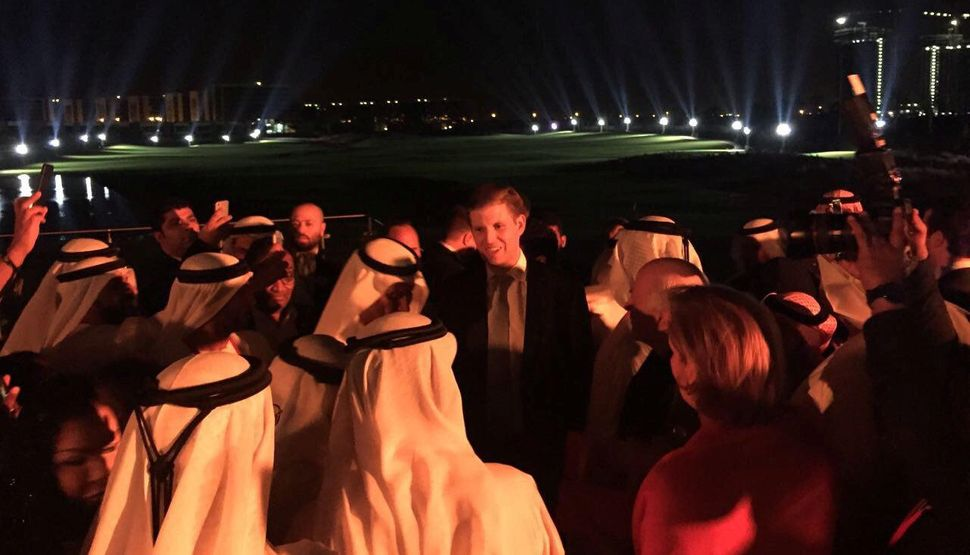 President Donald Trump's son Eric at the opening of the Trump International Golf Club in Dubai, United Arab Emirates, on Feb.