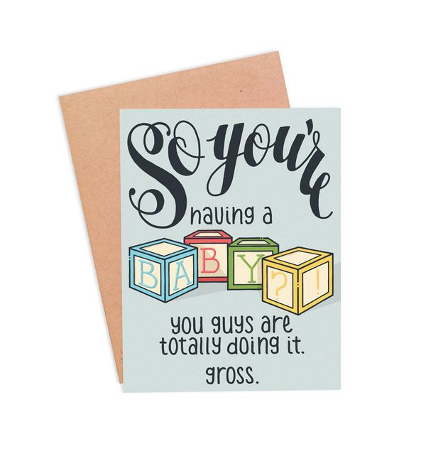 """$4, <a href=""""https://www.etsy.com/listing/207773211/funny-expecting-card-funny-pregnancy?ref=shop_home_active_5"""" target=""""_bla"""