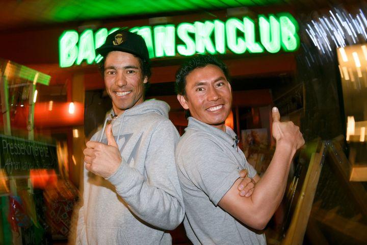 Sayed Ali Shah Farhang, left, and Sajjad Husaini are training for the 2018 Winter Olympics in South Korea.