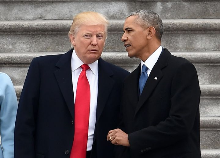 President Donald Trump and former President Obama